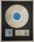 Music Memorabilia:Awards, Eagles Their Greatest Hits 1971-1975 RIAA Platinum AlbumAward....
