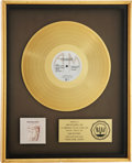 Music Memorabilia:Awards, Cat Stevens Mona Bone Jakon RIAA Gold Album Award....