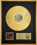 Music Memorabilia:Awards, Van Morrison Moondance RIAA Gold Album Award....