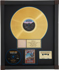 Music Memorabilia:Awards, The Grateful Dead Without a Net RIAA Gold Album Award....