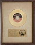 "Music Memorabilia:Awards, Average White Band ""Pick Up the Pieces"" RIAA Gold Single Award...."