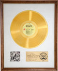 Music Memorabilia:Awards, Rolling Stones Exile on Main St. RIAA Gold Album Award....