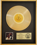 Music Memorabilia:Awards, Labelle Nightbirds RIAA Gold Album Award....