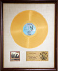 Music Memorabilia:Awards, The Doors L.A. Woman RIAA Gold Album Award....
