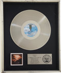 Music Memorabilia:Awards, Jackson Browne Running On Empty RIAA Platinum Album Award....
