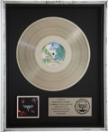 Music Memorabilia:Awards, Van Halen RIAA Platinum Album Award. ...
