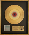 Music Memorabilia:Awards, Steely Dan Countdown to Ecstasy RIAA Gold Album Award....