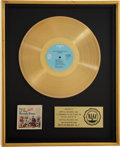 Music Memorabilia:Awards, Best of the Beach Boys - Vol. 2 RIAA Gold Album Award....