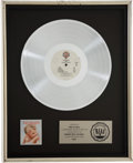 Music Memorabilia:Awards, Van Halen 1984 RIAA Platinum Album Award....