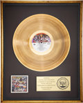 Music Memorabilia:Awards, KISS Unmasked RIAA Gold Album Award....