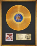 Music Memorabilia:Awards, Brothers Johnson Blam! RIAA Gold Album Award....