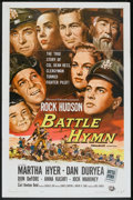 "Movie Posters:War, Battle Hymn (Universal International, 1957). One Sheet (27"" X 41"")and Pressbook (Multiple Pages, 12"" X 18""). War.. ... (Total: 2Items)"