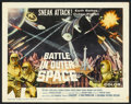 "Movie Posters:Science Fiction, Battle in Outer Space (Columbia, 1960). Title Lobby Card (11"" X14""). Science Fiction.. ..."