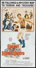 "Movie Posters:Adventure, The Treasure of Monte Cristo (MGM, 1961). Three Sheet (41"" X 81"").Adventure.. ..."