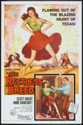 "Movie Posters:Western, The Restless Breed (20th Century Fox, 1957). One Sheet (27"" X 41""). Western.. ..."