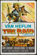 "Movie Posters:War, The Raid (20th Century Fox, 1954). One Sheet (27"" X 41""). War.. ..."