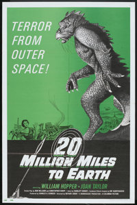 "20 Million Miles to Earth (Columbia, R-1971). One Sheet (27"" X 41""). Science Fiction"