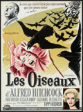 """Movie Posters:Hitchcock, The Birds (Universal, 1963). French Affiche (23.5"""" X 31.5"""").Hitchcock.. ..."""