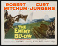 "Movie Posters:War, The Enemy Below (20th Century Fox, 1957). Half Sheet (22"" X 28"").War.. ..."