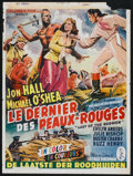 "Movie Posters:Adventure, The Last of the Redmen (Columbia, 1947). Belgian (14"" X 19"").Adventure.. ..."