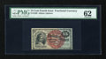 Fr. 1269 15c Fourth Issue PMG Uncirculated 62