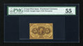 Fractional Currency:First Issue, Fr. 1230 5¢ First Issue PMG About Uncirculated 55....