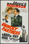 "Movie Posters:Crime, Unholy Partners (MGM, 1941). One Sheet (27"" X 41""). Crime.. ..."