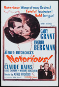 """Movie Posters:Hitchcock, Notorious (Selznick, R-1954). One Sheet (27"""" X 41""""). Hitchcock....."""