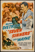 "Movie Posters:Adventure, Seven Sinners (Eagle Lion, R-1948). One Sheet (27"" X 41"").Adventure.. ..."