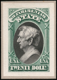 1c - $20 Officials / Dept of State Small Die Proofs (O57-71P2)