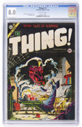 Golden Age (1938-1955):Horror, The Thing! #17 (Charlton, 1954) CGC VF 8.0 Off-white pages....