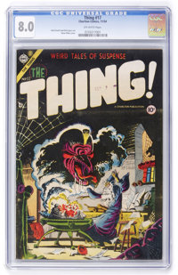 The Thing! #17 (Charlton, 1954) CGC VF 8.0 Off-white pages