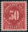 Stamps, 1910-12, 50c Never Hinged (J50),...