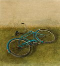 Fine Art - Painting, American:Contemporary   (1950 to present)  , ARTHUR BIEHL (American, 20th Century). The Blue Bicycle.Acrylic on masonite. 19-1/2 x 18-1/2 inches (49.5 x 47.0 cm). S...