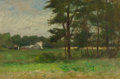 Fine Art - Painting, American:Antique  (Pre 1900), WALTER A. CLARK (American, 1848-1917). Overgrown Fields. Oilon canvas. 16 x 24 inches (40.6 x 61.0 cm). ...