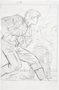 Original Comic Art:Miscellaneous, Greg and Tim Hildebrandt Star Wars: Shadow of the EmpireTrading Card Preliminary Illustration Original Art (Topps...