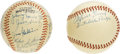 Autographs:Baseballs, 1950s Puerto Rican League Multi-Signed Baseballs Lot of 2. ThePuerto Rican Winter League has been a stepping stone for a h...