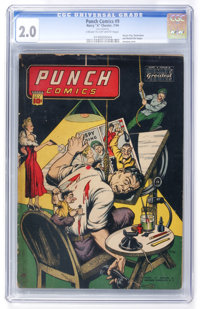 Punch Comics #9 (Chesler, 1944) CGC GD 2.0 Cream to off-white pages