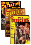 Pulps:Detective, Miscellaneous Detective Pulps Group (Various Publishers, 1934-37) Condition: Average GD/VG.... (Total: 3 Items)