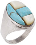 Music Memorabilia:Memorabilia, Elvis Presley's Turquoise Ring.... (Total: 2 Items)