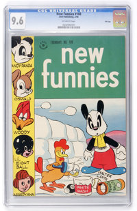 New Funnies #108 File Copy (Dell, 1946) CGC NM+ 9.6 Off-white pages