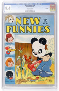 Golden Age (1938-1955):Funny Animal, New Funnies #88 File Copy (Dell, 1944) CGC NM 9.4 Off-whitepages....