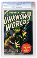 Golden Age (1938-1955):Science Fiction, Journey Into Unknown Worlds #56 (Atlas, 1957) CGC VF/NM 9.0Off-white to white pages....