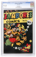 Golden Age (1938-1955):Funny Animal, Jamboree Comics #2 (Round, 1946) CGC VF/NM 9.0 Off-white pages....