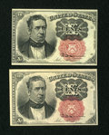 Fractional Currency:Fifth Issue, Both Key Varieties.. ... (Total: 2 notes)