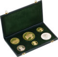 Chile, Chile: Republic Six Piece silver and gold Proof Set 1968, ... (Total: 6 coins)