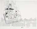 John Romita Sr. and John Romita Jr. Spider-Man Double-Page Splash Original Art (2004)