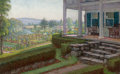Fine Art - Painting, American:Modern  (1900 1949)  , WALTER I. COX (American, 1867-1930). The Front Porch. Oil onartist's board. 22-1/2 x 14 inches (57.2 x 35.6 cm). ...