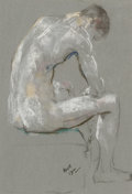 Fine Art - Work on Paper:Drawing, LEON KROLL (American, 1884-1974). Seated Nude, 191?. Pastelon paper. 11-1/4 x 7-1/2 inches (28.6 x 19.1 cm) window. Sig...
