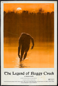 "The Legend of Boggy Creek (Howco, 1973). Poster (40"" X 60""). Thriller"